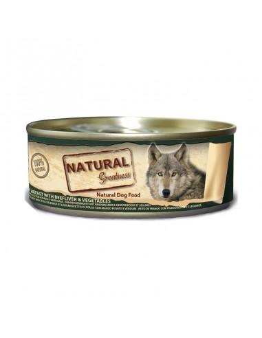 Natural Greatness Classic Pechuga de Pollo, Hígado de Buey y Verduras Perro