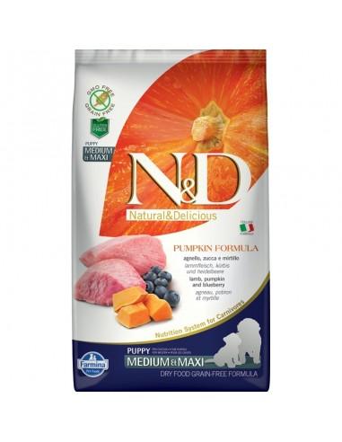 Farmina N&D Calabaza y Cordero Puppy Medium & Maxi Grain Free