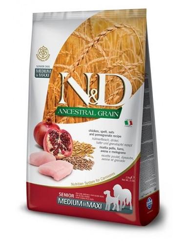 Farmina N&D Pollo y Granada Senior Medium-Maxi  Ancestral