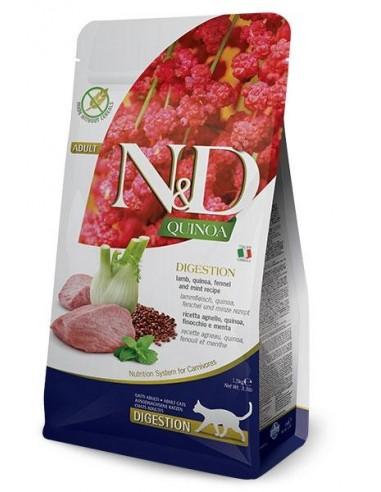 Farmina N&D Cordero y Quinoa Cat Digestion Grain Free