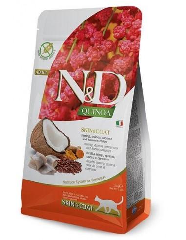 Farmina N&D Pescado y Quinoa Cat Skin & Coat Grain Free