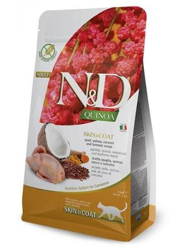Farmina N&D Codorniz y Quinoa Cat Skin & Coat Grain Free