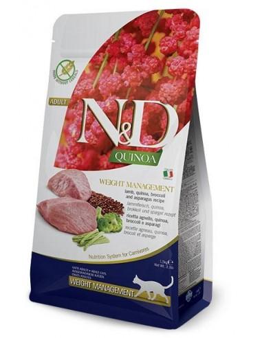 Farmina N&D Cordero y Quinoa Weight Management Grain Free