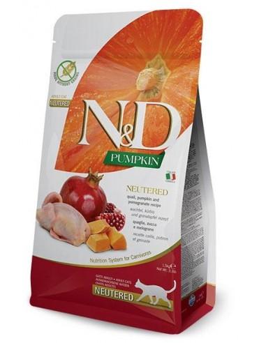 Farmina N&D Calabaza y Codorniz Neutered Cat Grain Free