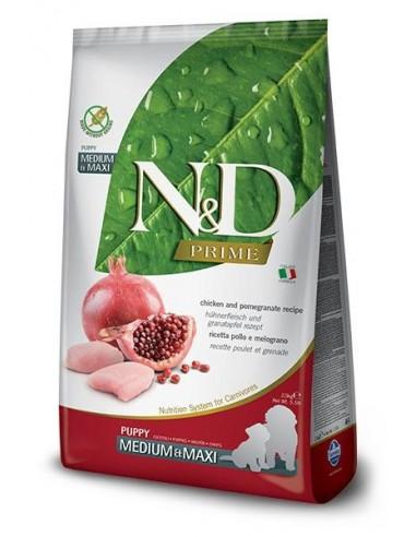 Farmina N&D Pollo y Granada Puppy Medium Maxi Grain Free