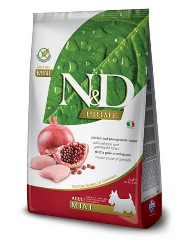 Farmina N&D Pollo y Granada Adult Mini Grain Free Prime