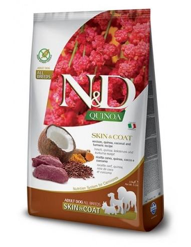 Farmina N&D Grain Free Quinoa Dog Skin Coat Venado