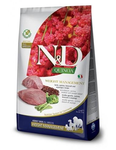 Farmina N&D Grain Free Quinoa Dog Weight Management Cordero