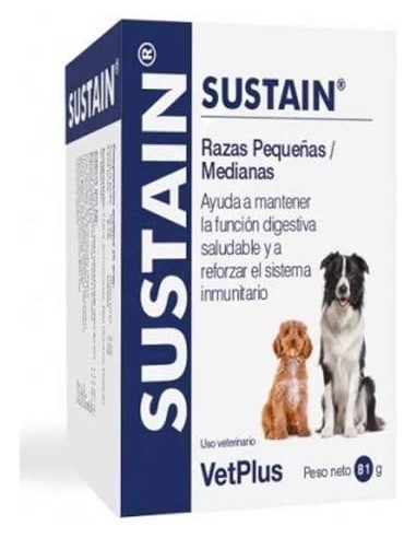 VetPlus Sustain Sobres. Suplemento Nutricional Perros Medianos Y Pequeños