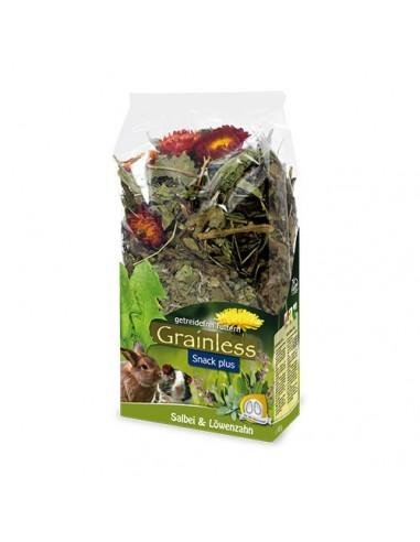 Grainless snack plus salvia y diente de león JR Farm