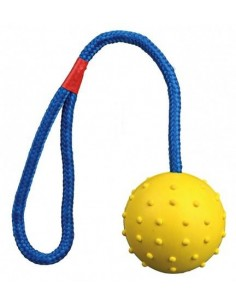 Juguete Pelota con Cuerda de Caucho Natural