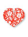 Placas Identificativas Corazón Diseño Flores