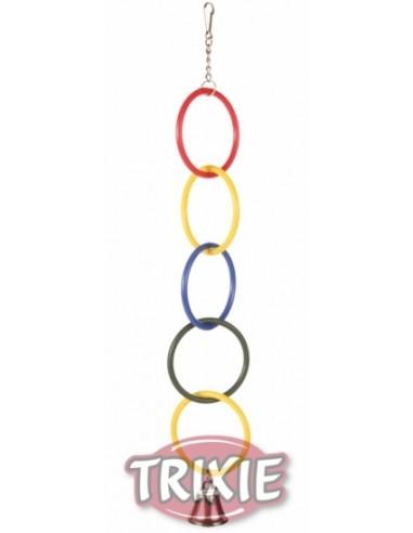 Juguete Anillos olímpicos con cadena y campana, 25 cm