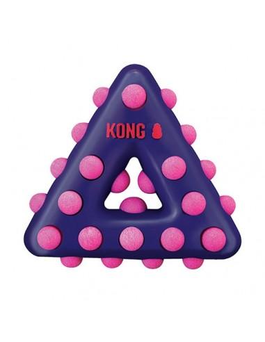 Kong Dotz Triangle: masticadores texturizados para perros