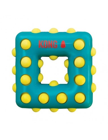 Kong Dotz Square Large: masticadores texturizados para perros