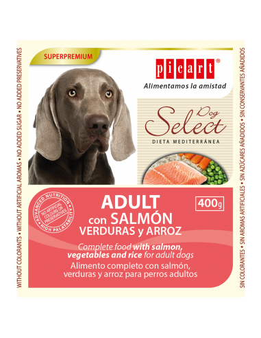 Picart Select Adult Lata Salmón, Verduras y Arroz