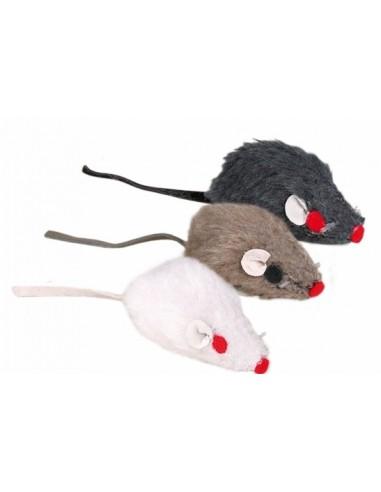 Ratones Peluche con Cascabel 5 cm