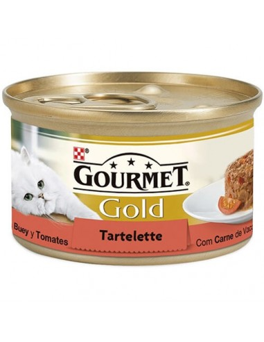 Purina Gourmet Gold Tartallette con buey y tomate