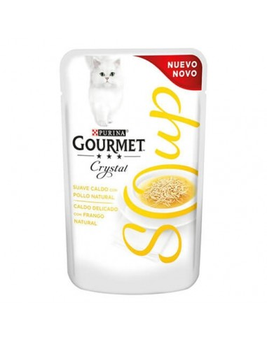 Purina Gourmet Crystal sopa con pollo natural