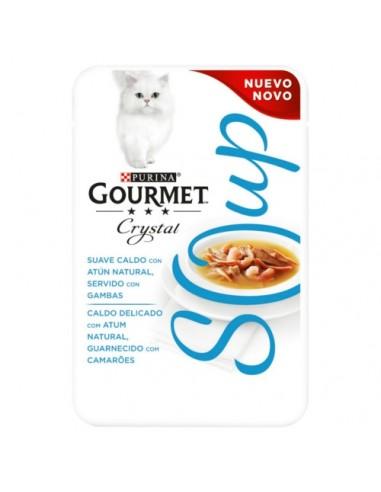 Purina Gourmet Crystal sopa con atún natural y gambas