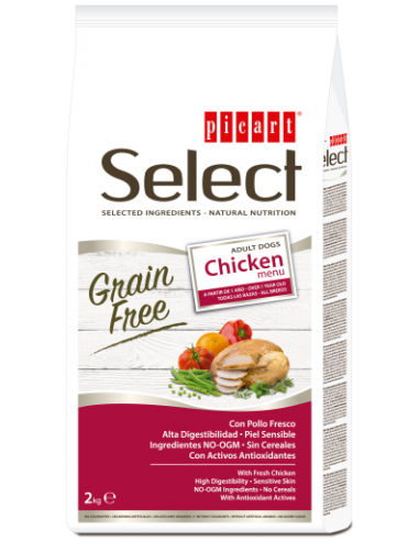 Picart Select Dog Grain Free Adult Pollo Menu