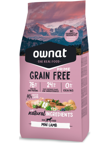 Pienso Ownat Grain Free Mini Adult Cordero
