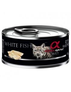 Alpha Spirit húmedo pescado blanco para gatos