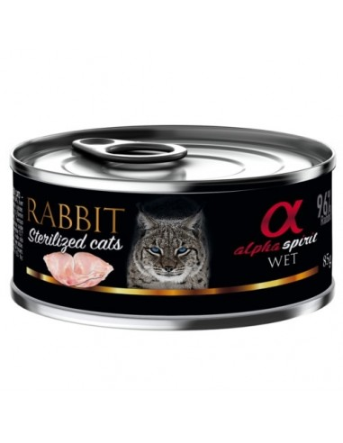 Alpha Spirit Sterilized húmedo conejo para gatos
