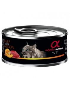 Alpha Spirit húmedo buey con melón para gatos