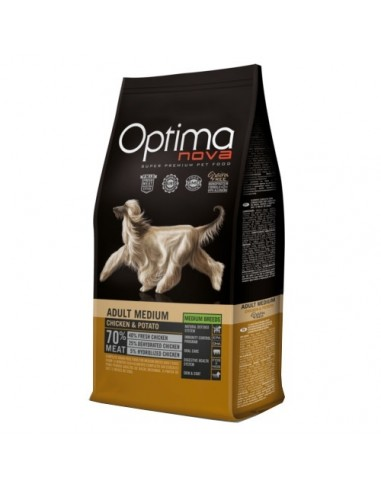Optimanova Adult Medium Pollo Y Patata Grain Free