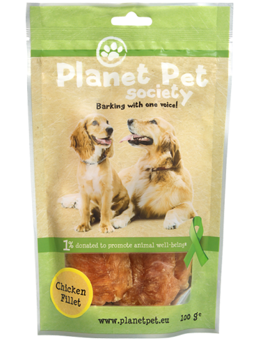 Snack De Filetes de Pollo Planet Pet Society para Perros