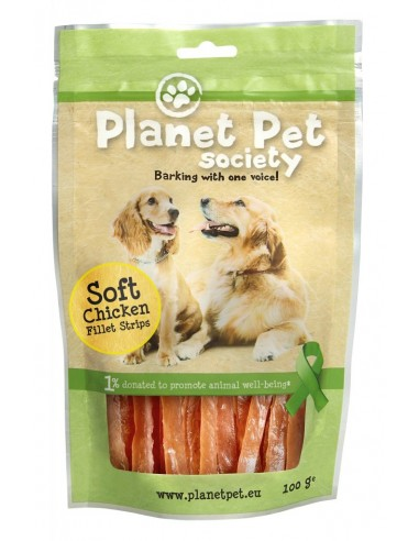 Snack Tiras de Filete de Pollo Planet Pet Society para Perros