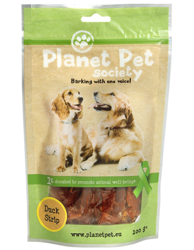 Snack Tiras de Pato Planet Pet Society para Perros