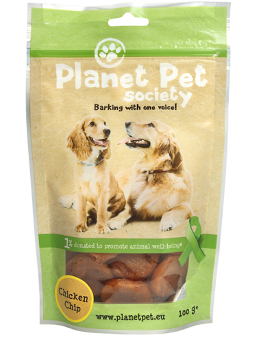 Snack Chip de Pollo Planet Pet Society para Perros