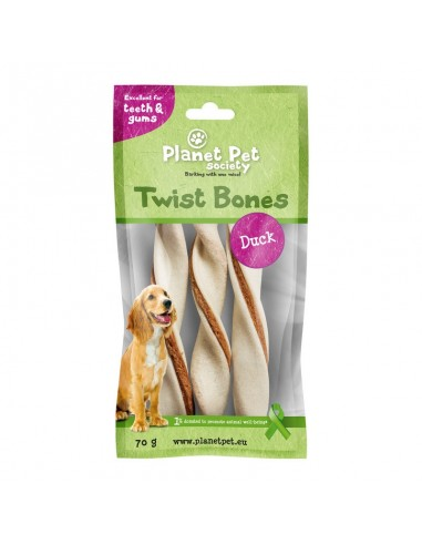Snack Rollito Dental Pato Planet Pet Society para Perros de Razas Medianas