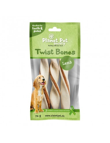 Snack Rollito Dental Cordero Planet Pet Society para Perros de Razas Medianas