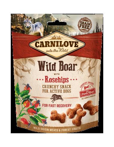 Carnilove Crunchy Snack Jabalí con Escaramujo