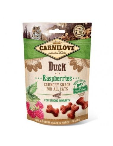Carnilove Crunchy Cat Snack Pato con Frambuesas