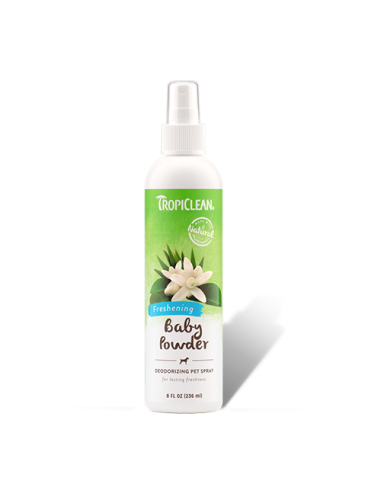 Tropiclean Spray Desodorante Baby Powder