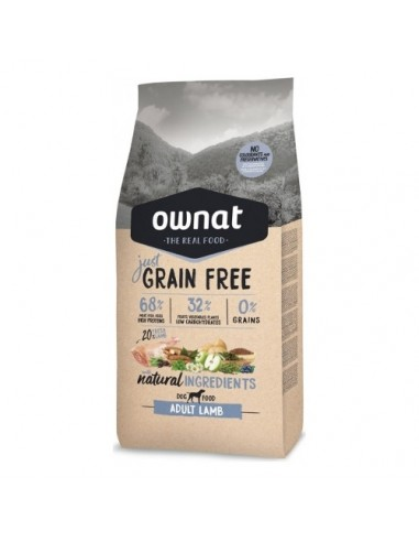 Pienso Ownat Just Grain Free Adult Cordero