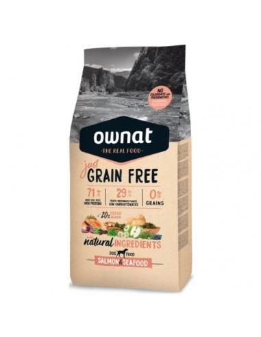 Pienso Ownat Just Grain Free Adult Salmón y Marisco