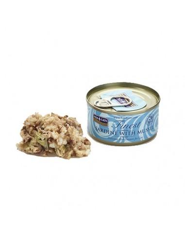 Fish4Cats Lata de sardina con mejillón