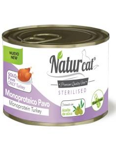 Naturcat Monoproteíco Pavo Gatos Esterilizados