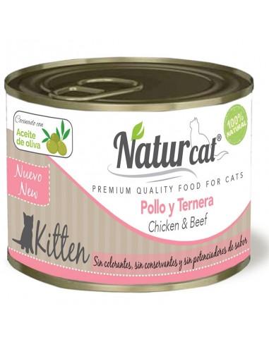 Naturcat Pollo y Ternera Kitten