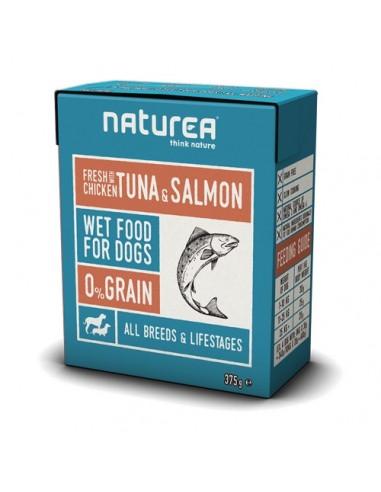 Naturea Tetra Pack para perro de Pollo, Atún y Salmón