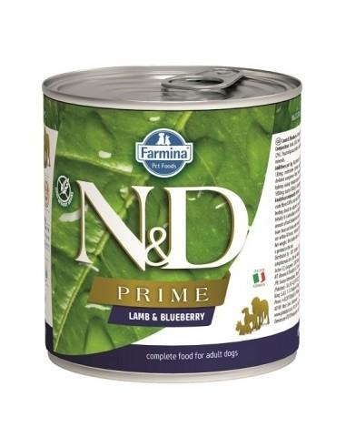 Farmina N&D Grain Free Prime Dog Cordero y  Arandanos Lata