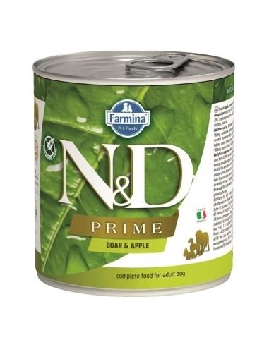 Farmina N&D Grain Free Prime Dog Jabali y Manzana Lata