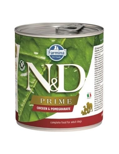 Farmina N&D Grain Free Prime Dog Pollo y Granada Lata