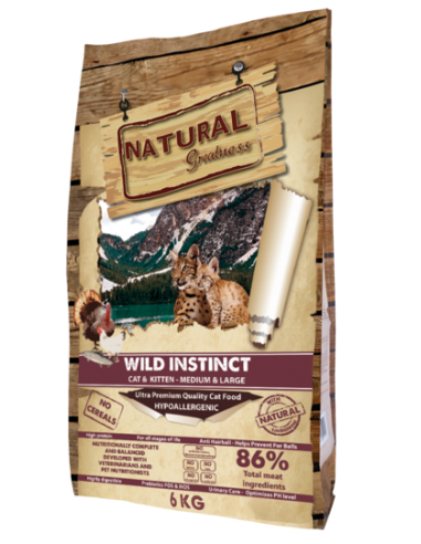 Natural Greatness Wild Instinct Medium & Large All Age Gatos