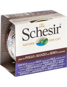 Schesir Pollo y Buey con Arroz al Natural Cat Lata